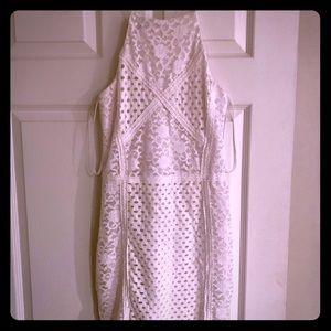 Crotchet White cocktail dress